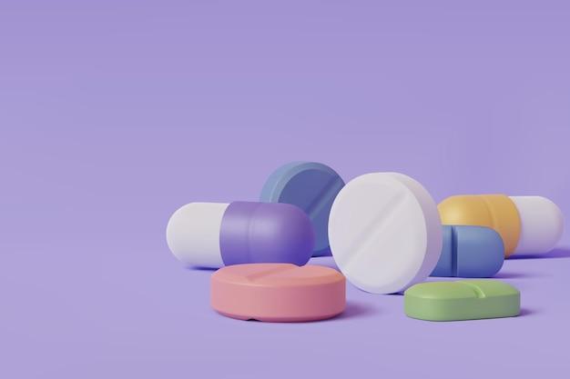薬局ドラッグヘルスタブレット医薬品、現実的な錠剤ブリスターパック医療タブのベクトルイラスト。 eps10ベクトル。