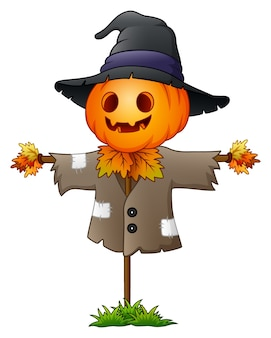 Vector illustration of Scarecrow cartoon