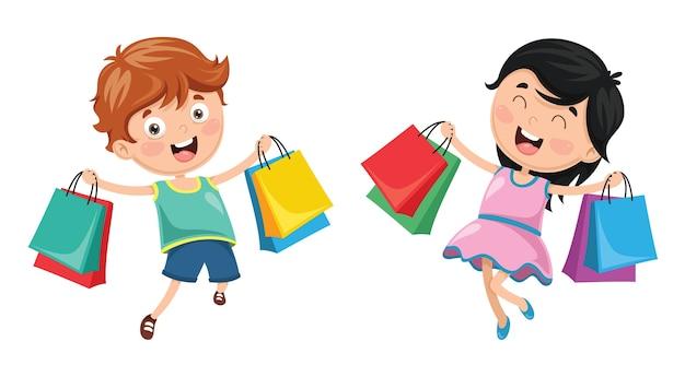 ショッピングのベクトル図