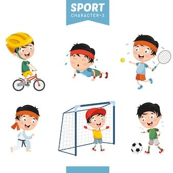 Векторная иллюстрация спортивного персонажа