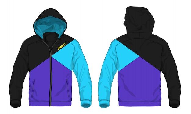 スポーツパーカジャケットのベクトル図。