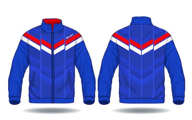 スポーツジャケットのベクトル図。