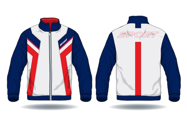 Векторная иллюстрация спортивной куртки.