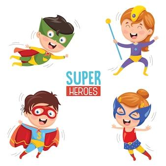 スーパーヒーローズのベクトル図