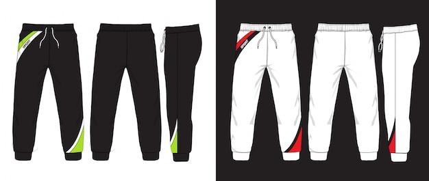 Векторная иллюстрация тренировочные брюки.