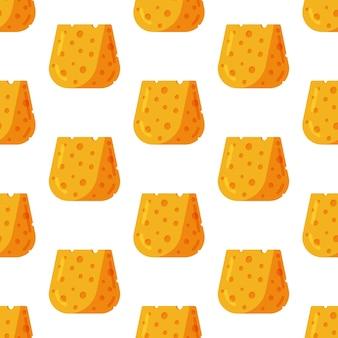 チーズパターンのベクトルイラストチーズとのシームレスなイラスト