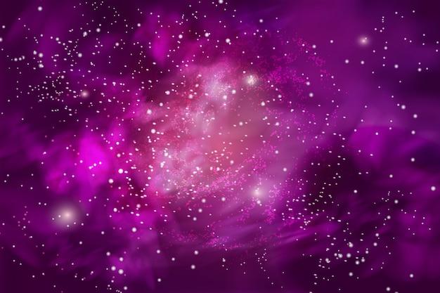 無限の宇宙と天の川のベクトルイラスト。