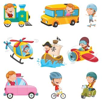 Vector Illustration Of Transportation