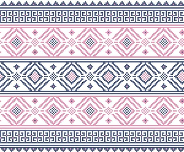 우크라이나 민속 원활한 패턴 장식의 벡터 일러스트 레이 션. 민족 장식. 테두리 요소. 전통 우크라이나, 벨로루시 민속 예술 니트 자수 패턴-vyshyvanka