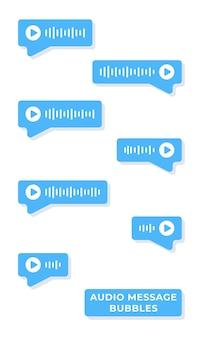 Векторная иллюстрация голосовых сообщений. переписка с девушкой или другом. коммуникация. чат. посланник.