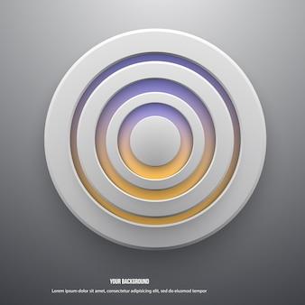 Векторные иллюстрации белой бумаги круглые ноты.