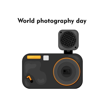 세계 사진의 날-8 월 19 일의 벡터 일러스트 레이션