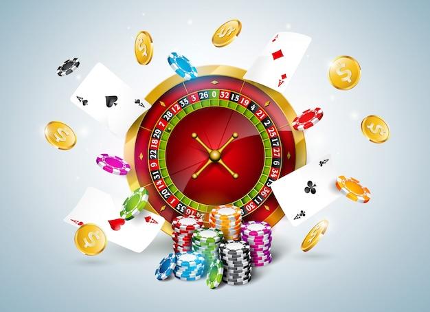 カジノのテーマでのベクトル図