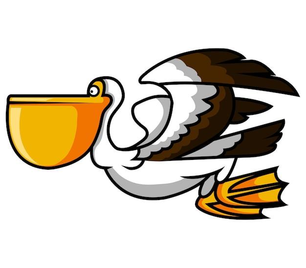 Vector illustration of pelican bird