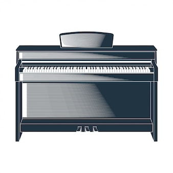 Vector illustration of a piano
