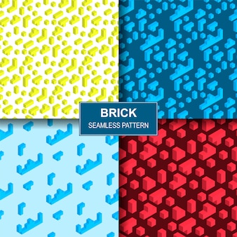 Vector illustration playing brick seamles pattern