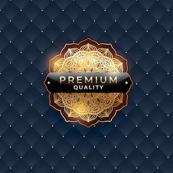 Vector illustration of premium quality  isolated elegant abstract golden gradient symbol