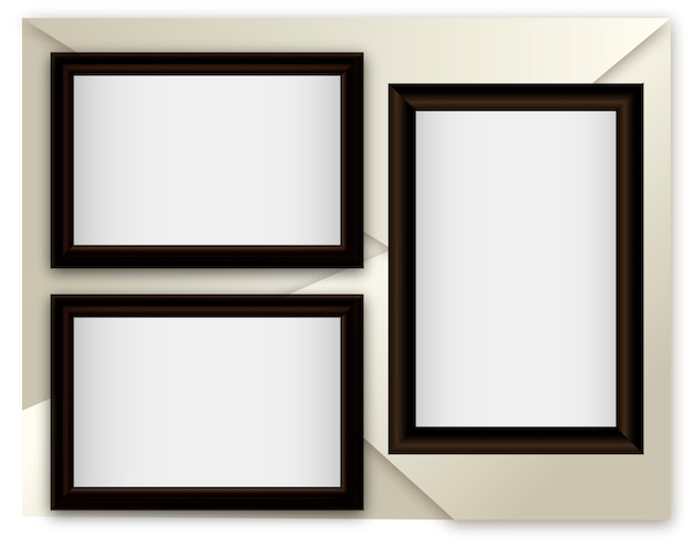 Vector illustration realistic frames on abstract background