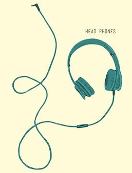 Vector illustration realistic headphones