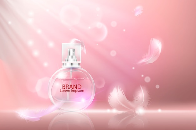Vector illustration of a realistic style perfume.