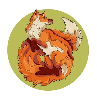 Vector illustration of the red fox