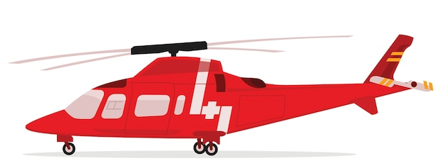 Vector illustration of rescue helicopter