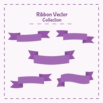 Vector illustration ribbon banner collection