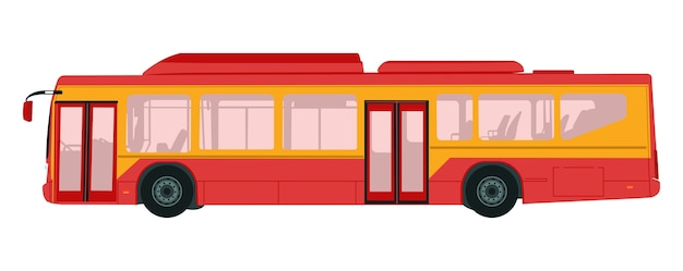 Vector illustration of school bus in white background
