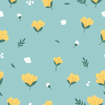 Vector illustration seamless floral pattern. flowers background for cosmetics packaging.