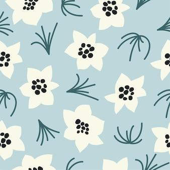 ベクトルイラストシームレスな花柄。化粧品包装の花の背景。