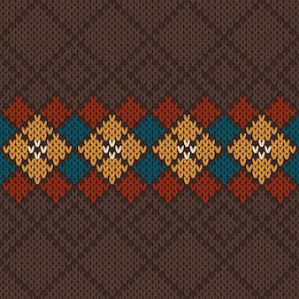 Vector illustration of seamless knitted wool pattern