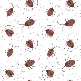 Векторная иллюстрация бесшовные модели с тараканом