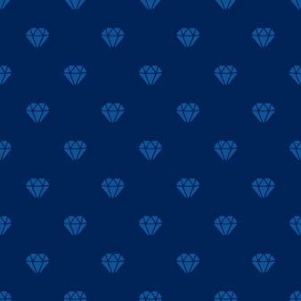 벡터 일러스트 레이 션. 진한 파란색 배경에 다이아몬드의 실루엣과 원활한 패턴