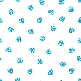 벡터 일러스트 레이 션. 흰색 바탕에 떨어지는 다이아몬드의 실루엣으로 완벽 한 패턴