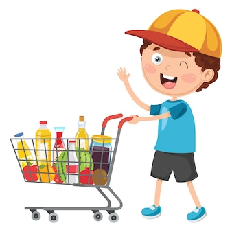 Vector illustration of shopping