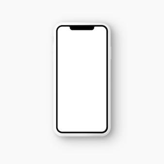 Векторная иллюстрация смартфон макет на изолированном фоне реалистичный 3d телефон
