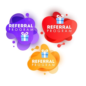 Vector illustration of speech bubbles with refer a friend message