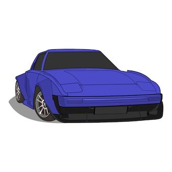 Векторная иллюстрация спортивный автомобиль mazda