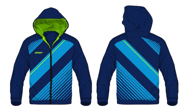 Vector illustration of sport hoodie jacket.