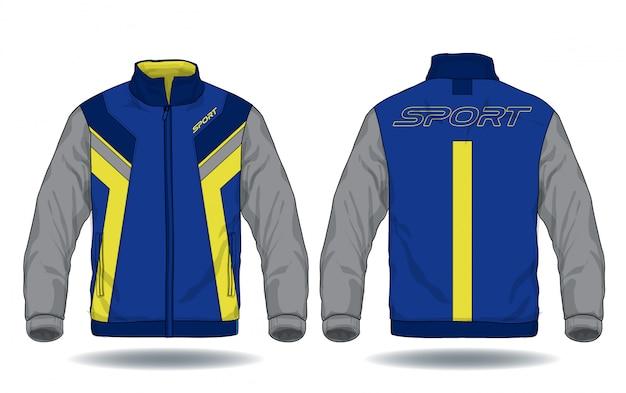 Vector illustration of sport jacket