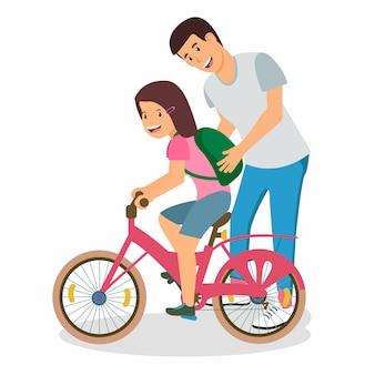 Vector illustration sports training for children.