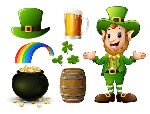 Vector illustration of st patrick day elements collection