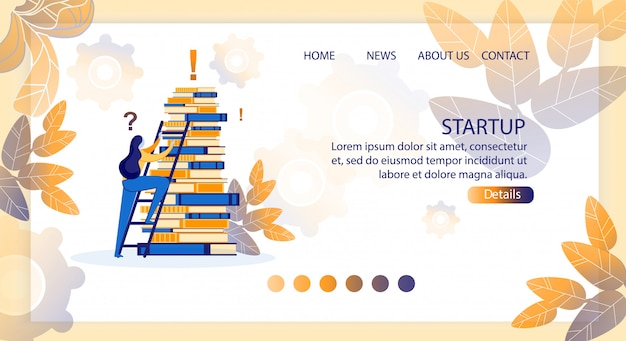 Vector illustration startup, lettering cartoon.