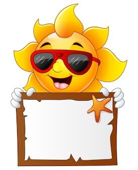 Vector illustration of sun characters cartoon