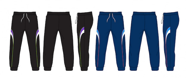 Vector illustration of sweatpants.