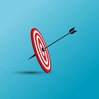Vector illustration of target with arrow icon