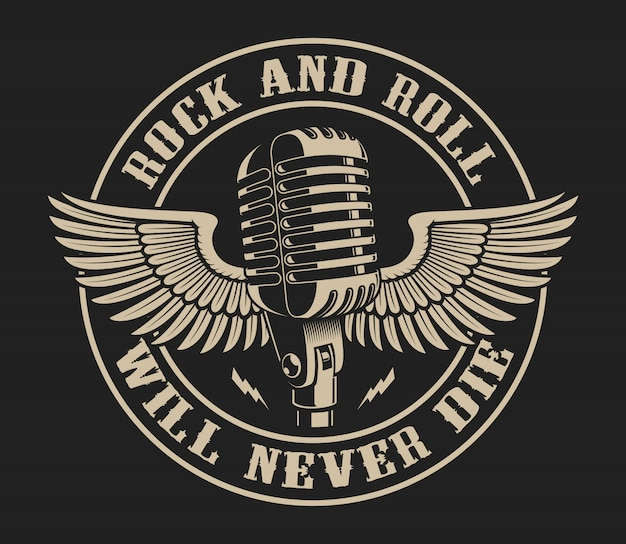 Vector illustration on the theme of rock and roll