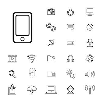 Векторная иллюстрация концепция значка технологии пользовательского интерфейса
