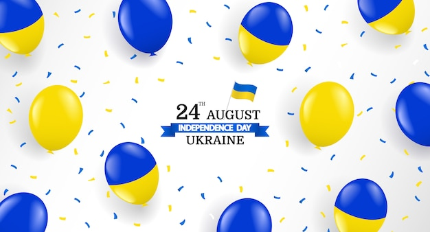 Vector illustration of ukraine independence day.