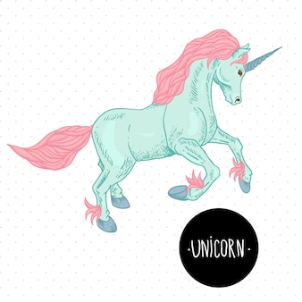 Vector illustration of unicorn.
